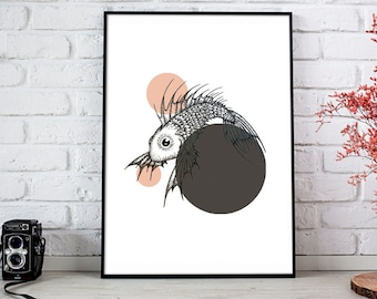 Fish Illustrated Art Print