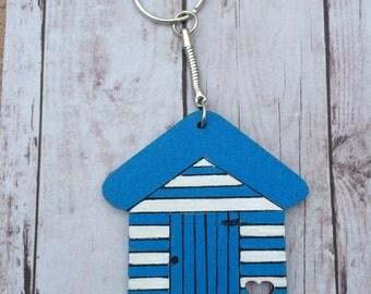Beach Hut Keyring/Magnet