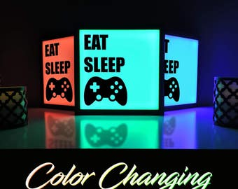 Gaming Light, Video Game Light, Video Game Decor, Xbox, Video Game Lamp, Home and Living, Lightbox, Lighting, Gaming Decor