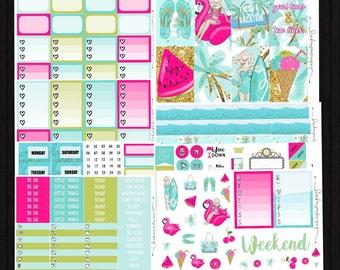 Summertime - Weekly Kit // Skin Tone Options // Happy Planner