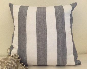 Gray Stripe Throw PIllow