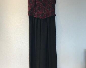 Red and black floral Hampton Nites jumpsuit