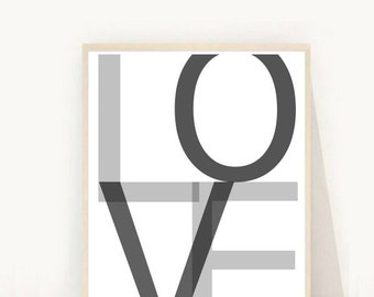 Printable Art, Love Wall Art, Love Print , Instant Download,Typography Art, Modern Wall Art, Home Decor, Wall Decor