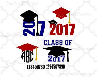 Graduation SVG cut files, Graduation monogram Frame svg cut files for use with Silhouette, Cricut and other Vinyl Cutters, digital cut file