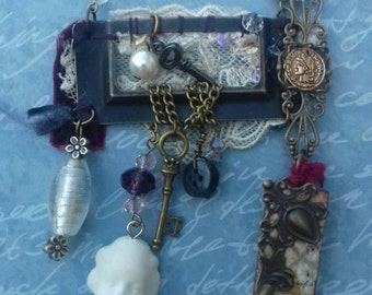 Upcycled Vintage Necklace - Repurposed, Steampunk, OOAK, Unique, Industrial, Rustic, Gothic