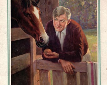 Will Rogers  lithograph print on 1939 calendar, intact