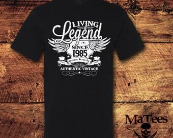 33rd Birthday, 33 Birthday, 33rd Birthday Shirt, 33 Birthday Shirt, 1985, Living Legend, Birthday, Birthday Gift, Birthday Shirt, T-Shirt