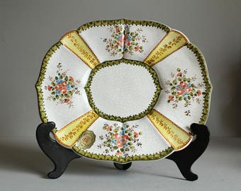 Vintage Italian Majolica Decorative Plate by RONZAN & CECCHETTO from BASSANO Italy, Hand Painted Vintage Ceramics, Mid Century Art Pottery