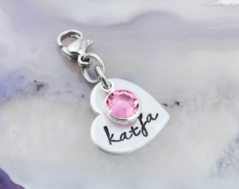 Personalized Name Charm for Phone Tablet - Phone Charm - Purse Charm - Backpack Zipper Pull