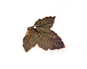 5 PCS Currant Leaf Pendant Real Leaf Charm Bronze Leaf Brass Leaf Copper Leaf Silver Leaf Unique Beads True Leaf Craft Supplies DIY Findings