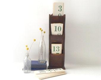 Vintage Wood Letter Holder / Wall Hanging
