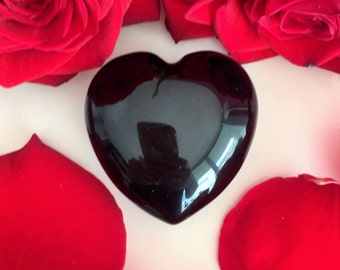 Black Obsidian Heart Perfect Mother's Day Gift