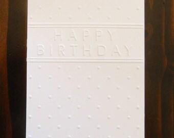 Happy Birthday Embossed Cardstock, Embossed Sheets, Embossed Card Fronts