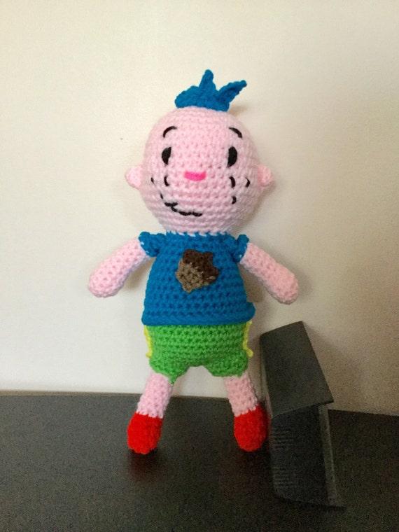 Amigurumi Hair Boy : Made to Order: Crochet Amigurumi Little Boy with Blue Hair and