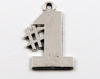Number One Sterling Silver Charm.