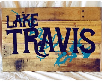 Custom Lake House Decor - Hand Painted, Wood Pallet Sign