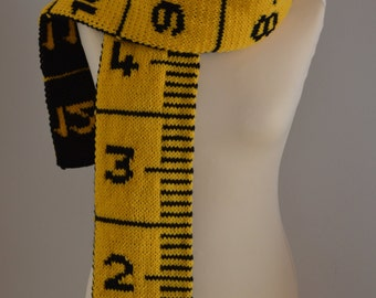 Knit Measuring Tape Scarf
