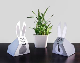 DIY Papercrafts,Easter bunny,Easter rabbit,Printables,happy easter,Paper toys,Easter decorations,Home decor,origami,3d rabbit,Easter favors
