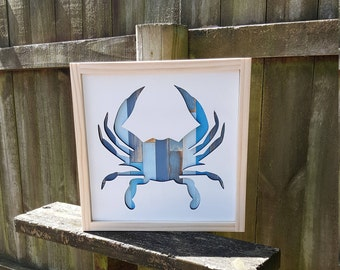 Wood Crab Sign