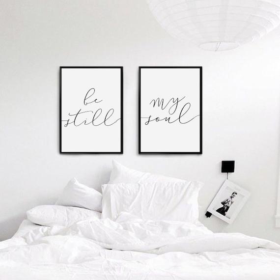 Be Still My Soul Print Bedroom Decor Wedding Gift Wall Art
