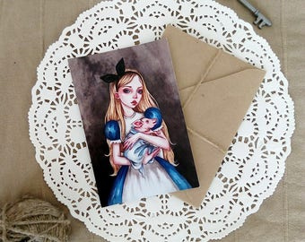Alice in Wonderland - Postcard-Fairy Tale-Print