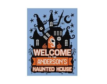 Haunted House - Halloween Pattern - Durene J Cross Stitch