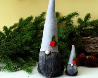 HOLIDAY Gnome and Mini SET, Miniature Gnome, Nordic Gnomes, Holiday Table, Gifts for Her, Christmas Decor, Christmas Gift, Holiday Decor