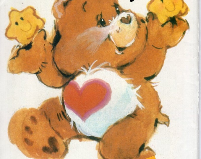 FREE US SHIP Butterick 6227 Care Bears Tenderheart Bear 1983 Uncut Factory Folded Vintage Retro 1980's 80's Sewing Pattern Carebear