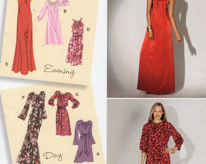 Simplicity 2308 Sewing Pattern Free Us Ship Day Evening Dress Uncut Size 6/14 14/22  6 8 10 12 14 16 18 20 22 Bust 30 32 34 36 38 40 42 44