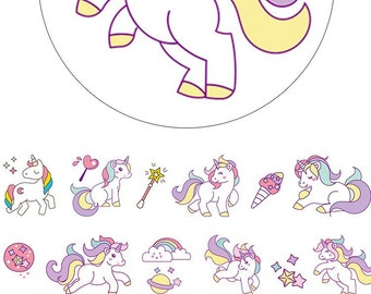 unicorn Washi Tape Sampler, Masking Tape Sampler für kikki k, filofax, Happy Planner or Erin Condren