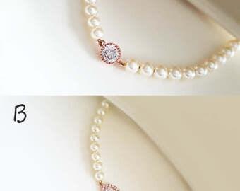 Gold / Rose gold / Silver - Pearl Bracelet