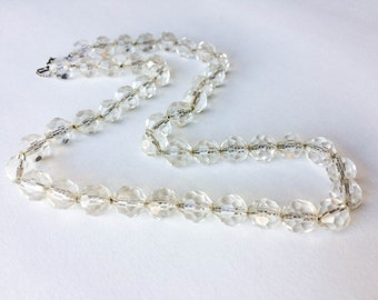 Vintage Crystal Beads on Sterling Chain
