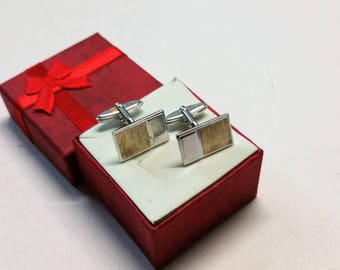 Part MS122 gold-plated Silver 925 cufflinks