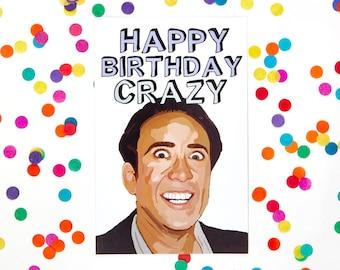 nicolas cage card  etsy, Birthday card