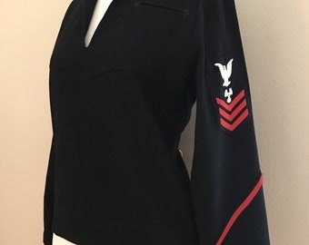 1940's WWII Military Navy Middy Wool Jacket Top