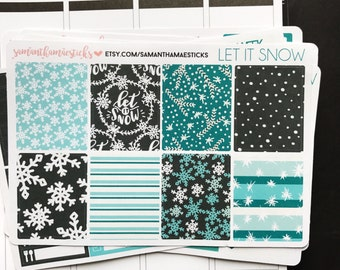 SALE VERTICAL Let It Snow for use with Erin Condren Lifeplanner™ Weekly Kit Planner Stickers