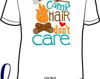 Camping Hair don't Care} Camper} Camping} Glamper} Camp Life}  Comfort Color by HeadSouthApparel