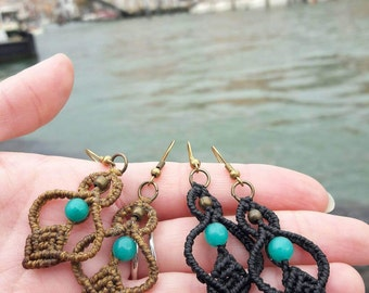 Earrings Turquoise Jade Venice