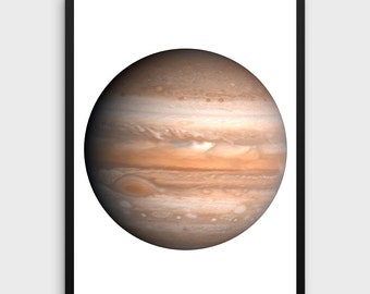 Jupiter Print | Jupiter Poster, Jupiter Printable, Jupiter Decor, Jupiter Photography, Planet Poster, Planet Print, Planet Wall Art
