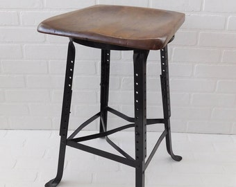 Vintage Industrial Bar Stool, Farmhouse Kitchen Bar Stool, Farmhouse Chic, Angle Steel Stool Company