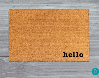 Hello Doormat, Hello Door Mat, Hello Welcome Mat, Hello, Hi Doormat,