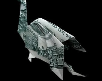 Winged DRAGON Money Origami Art Gift Made out of Real One Dollar Bill