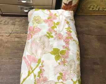 Vintage Fabric Pink Green Floral