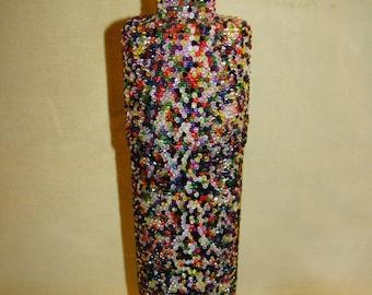 Beaded Vase / Bottle Multicoloured
