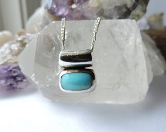 Turquoise Necklace Sterling Silver