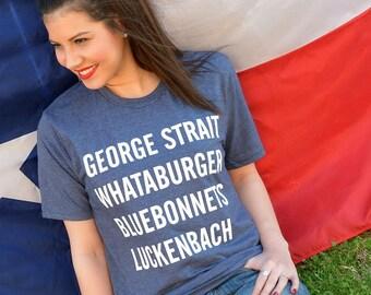 GEORGE STRAIT Whataburger Bluebonnets Ladies T-shirt