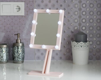 vanity mirror with lights makeup mirror wall hanging or. Black Bedroom Furniture Sets. Home Design Ideas