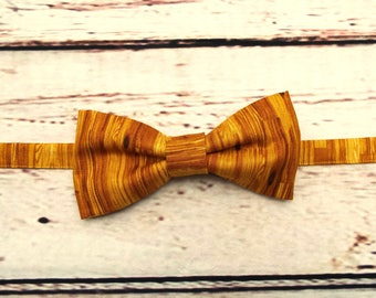 Wood Bow Tie - Pre Tied Bow Tie - Wood Anniversary Gift - Men's Bow Tie - Bow Tie
