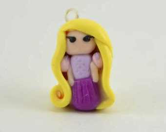 Rapunzel Tangled Inspired Mini Chibi Adorable Bracelet/Necklace charm. Polymer clay-VVsGrotto