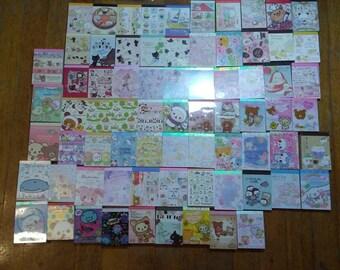 Kawaii Grab Bag - Mini Memo Sheets - Japanese Stationery - Note Paper - Journaling - Scrapbooking - Penpal Writing - Cute - 150 Pieces